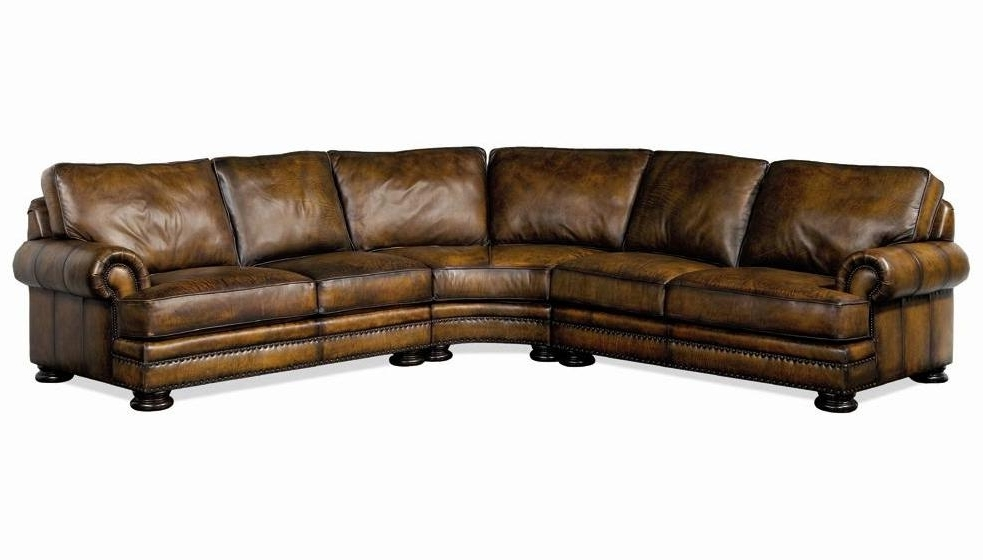 Favorite Bernhardt Foster Leather Sectional Sofa With Nailhead Trim (View 7 of 10)