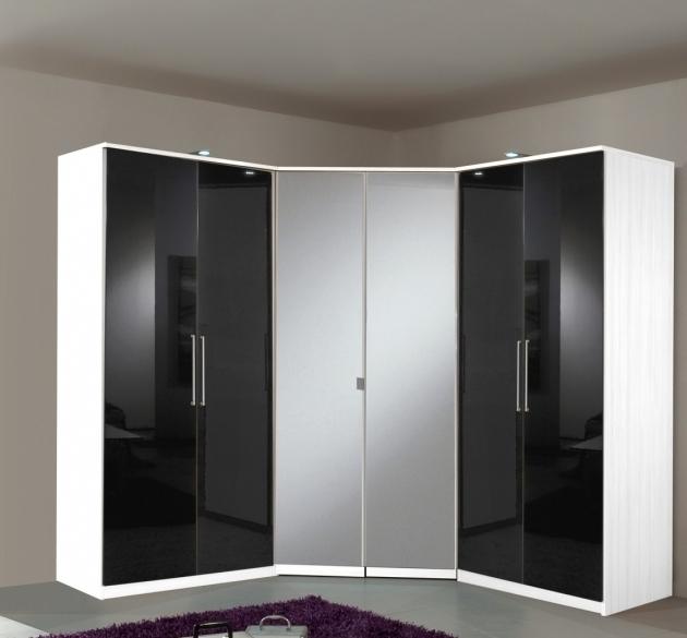 Favorite Black And White Wardrobe Berlin 6 Door Corner Wardrobe Set High Pertaining To Black And White Wardrobes Set (View 8 of 15)