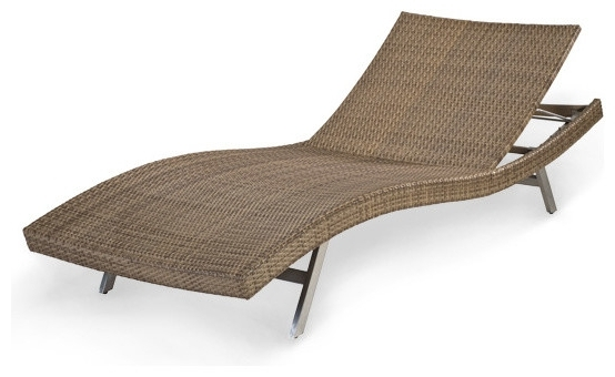 Favorite Brilliant Wicker Lounge Chair Outdoor Rattan Chaise Lounge Chairs Pertaining To Wicker Chaise Lounge Chairs For Outdoor (View 3 of 15)