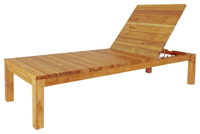 Favorite Brilliant Wooden Chaise Lounge Mazzamiz Wooden Sun Lounger Modern Regarding Wood Chaise Lounges (View 14 of 15)