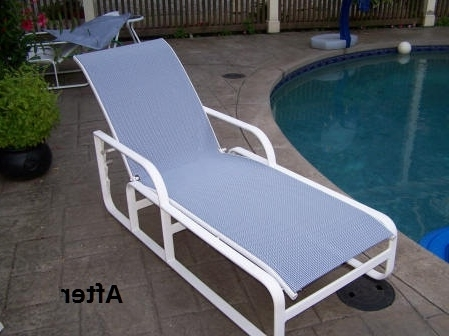 Favorite Brown Jordan Chaise Lounge Chairs With Regard To Customer Diy Slings (View 7 of 15)
