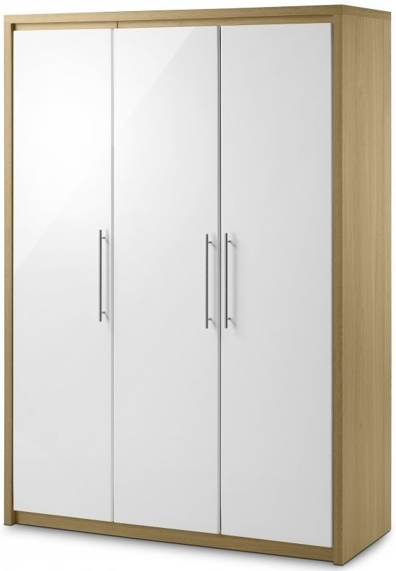 Favorite Buy Julian Bowen Stockholm Wardrobe, Stockholm 3 Door Wardrobe Within White 3 Door Wardrobes (View 4 of 15)