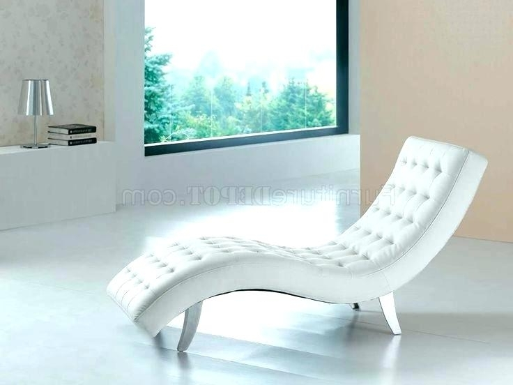 Favorite Chaise Lounge White White Chaise Chair Best Chaise Lounge Chairs With Regard To White Chaise Lounge Chairs (View 6 of 15)