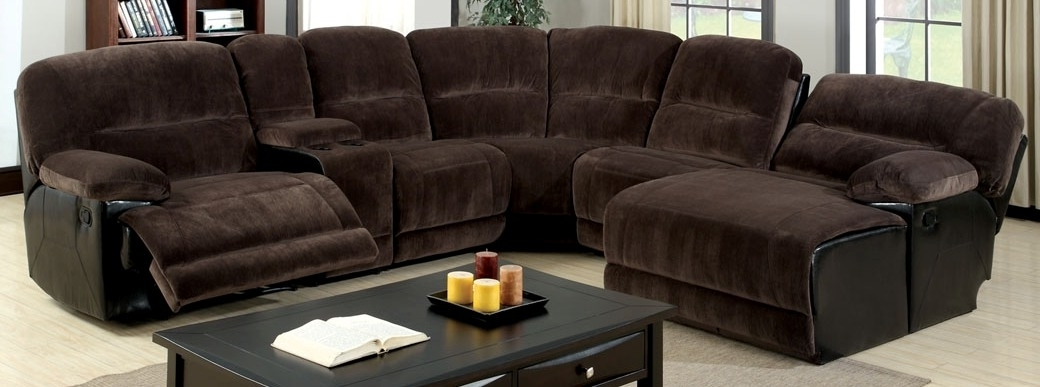 Favorite Chaise Recliners With Buy Furniture Of America Cm6822 Glasgow Sectional With 2 Recliners (View 7 of 15)