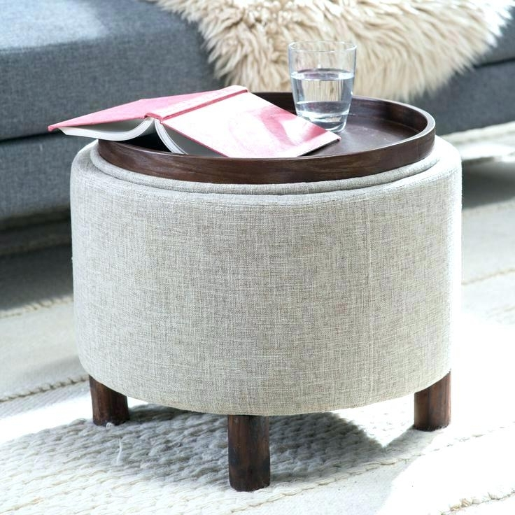 Favorite Cool Leather Ottoman With Tray Coffee Table Storage Ottoman With In Ottomans With Tray (View 2 of 10)
