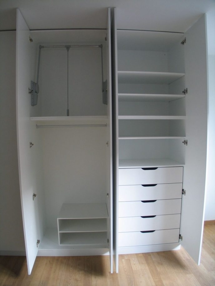 Favorite Double Wardrobes With Drawers And Shelves Inside Wardrobe With Drawers Tags : Cupboards For Clothes Furniture (View 11 of 15)