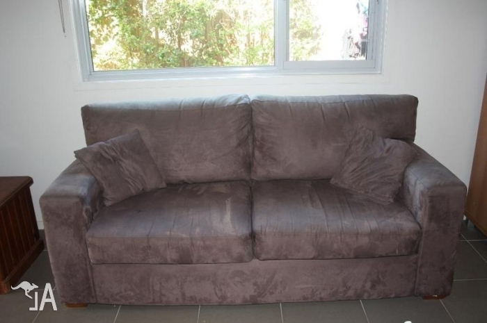 Favorite Faux Suede Sofas With Regard To Fantastic Furniture Brown Faux Suede Sofa For Sale In Ermington (View 2 of 10)