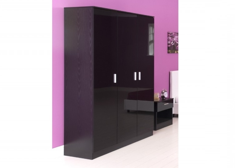 Favorite Gfw Ottawa 3 Door Wardrobe In Black Oak And Black Glossgfw Intended For 3 Door Black Gloss Wardrobes (View 8 of 15)