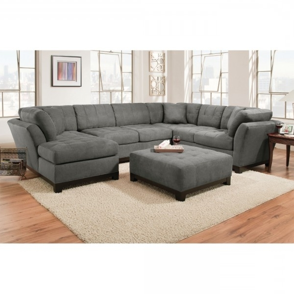 Favorite Gray Couches With Chaise Intended For Manhattan Sectional – Sofa, Loveseat & Rsf Chaise – Slate (View 3 of 15)