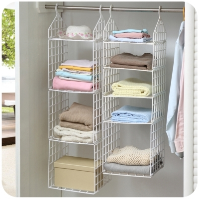 Favorite Hanging Wardrobes Shelves With Creative Home Closet Organizer Plastic Folding Storage Shelving (View 4 of 15)
