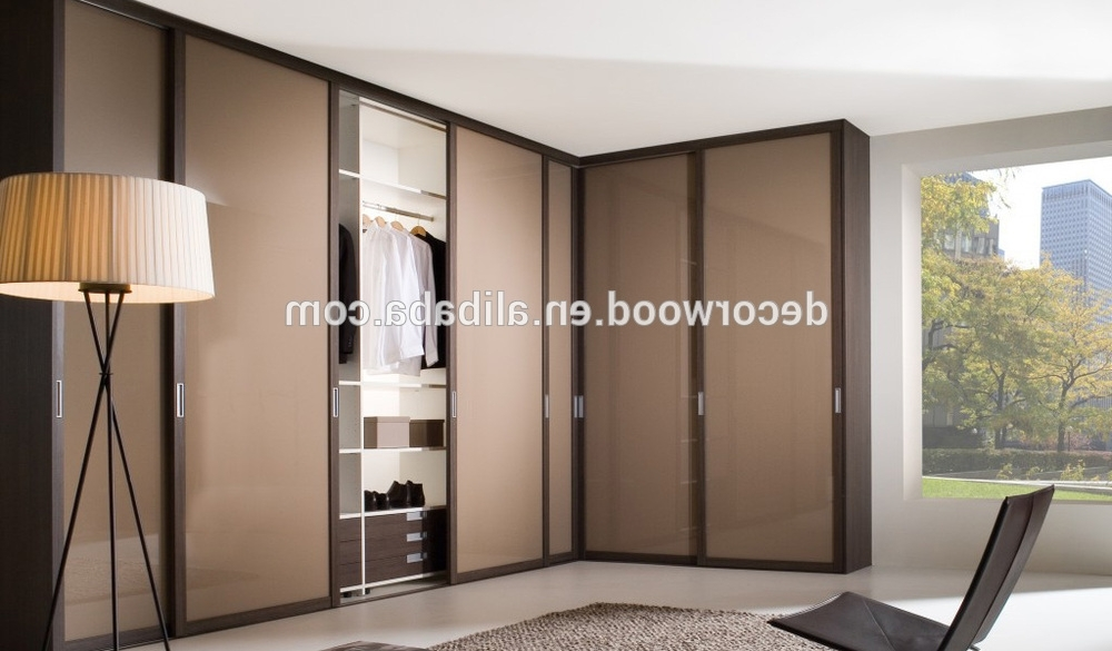Favorite High Gloss Doors Wardrobes Throughout Best Price Custom Made Fitted High Gloss Brown Sliding Door (View 8 of 15)