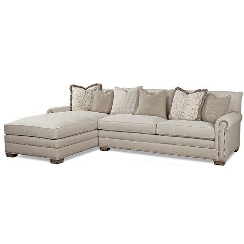 Favorite Huntington House 7107 Ryan Traditional Sectional Sofa With Intended For Sectional Sofas With Nailheads (View 8 of 10)