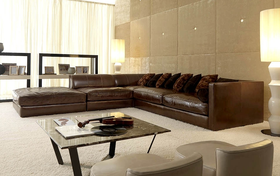 Favorite Leather Modular Sectional Sofas Intended For Fabulous Modular Leather Sectional Sofa Distressed Leather (View 6 of 10)