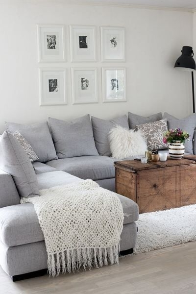 Favorite Light Grey Sectional Sofas Within Elegant Light Grey Sectional Couch 59 Sofas And Couches Ideas With (View 3 of 10)