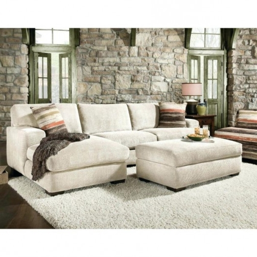 Favorite Microfiber Sectional Sofas With Chaise Regarding Chaise : Sectional Sofa Astounding Cream Couches Pleasurable Top (View 3 of 15)