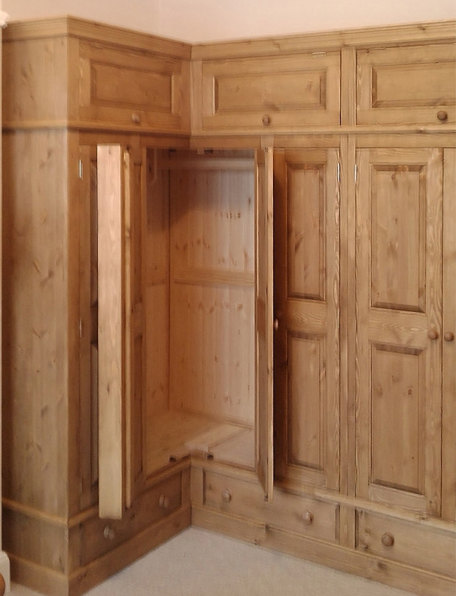 Favorite Oak Corner Wardrobes In Pine And Oak Fitted Wardrobes Hedgehog Furniture (View 4 of 15)
