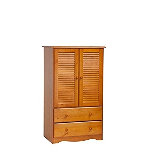 Favorite Pine Wardrobe: Amazon Pertaining To Pine Wardrobes With Drawers And Shelves (Gallery 4 of 15)