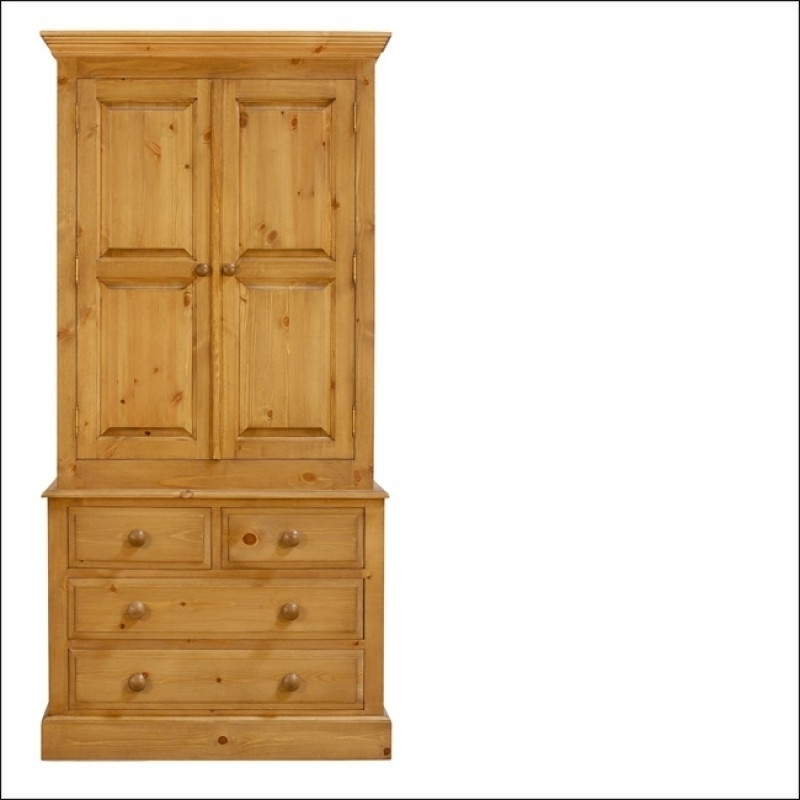 Favorite Pine Wardrobes With Drawers Intended For Pine Wardrobe With Drawers Uk (View 6 of 15)