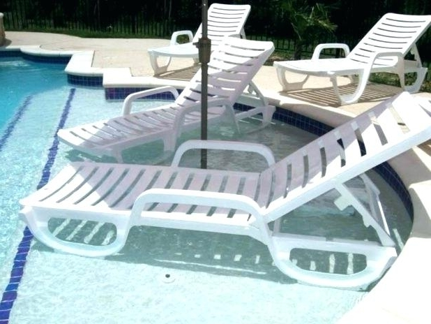 Favorite Pool Chaise Lounges With Regard To Wicker Pool Lounge Chair Nice Reclining Lounge Chairs Patio Rattan (View 4 of 15)