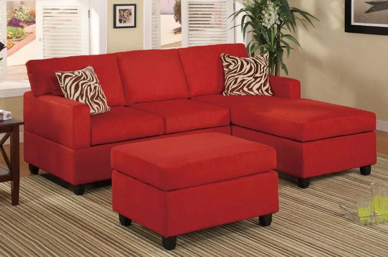 Favorite Red Sectional Sofas With Ottoman With Regard To Ellie Red Fabric Sectional Sofa And Ottoman – Steal A Sofa (View 7 of 10)
