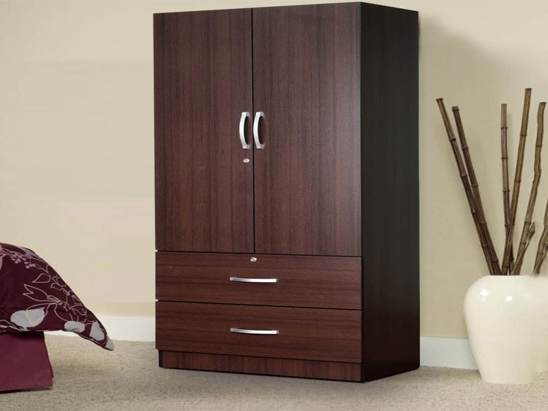 Favorite Rikotu Two Door Wardrobe With Two Drawers – Mannat Furniture With Cheap 2 Door Wardrobes (View 10 of 15)