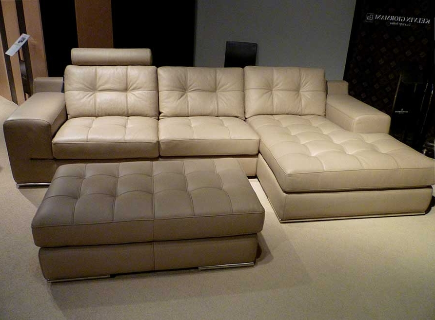 Favorite Sectional Sofa Design: Amazing Beige Leather Sectional Sofa Beige Within Beige Sectional Sofas (View 8 of 10)