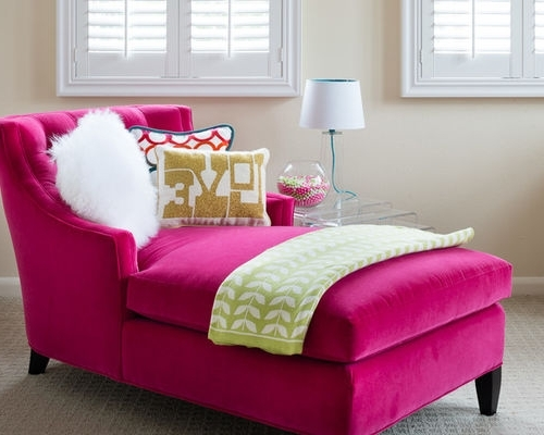 Favorite Top Pink Chaise Lounge Chair 68Dazzle Chaises Lounges Interior Regarding Pink Chaises (View 6 of 15)