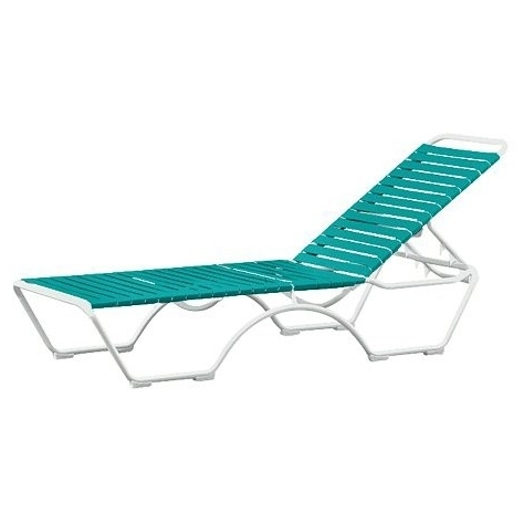Favorite Tropitone 8032n Kahana Strap Chaise Lounge – Homeclick With Regard To Tropitone Chaise Lounges (View 15 of 15)