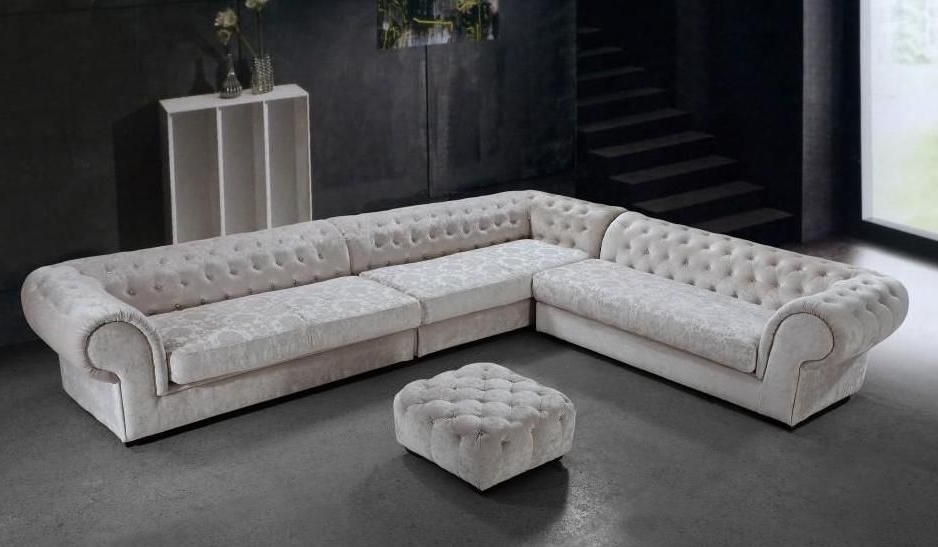 Favorite Tufted Sectionals With Chaise With Graceful Tufted Microfiber Living Room Furniture Bridgeport (View 7 of 15)