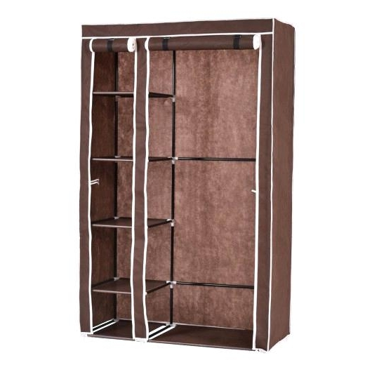 Favorite Wardrobe For Clothes Storage Portable Closet Storage Organizer Inside Double Canvas Wardrobes Rail Clothes Storage (View 10 of 15)