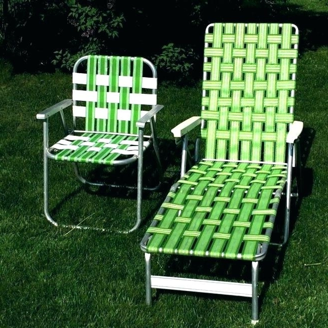 Favorite Web Chaise Lounge Lawn Chairs For Fascinating Webbed Folding Lawn Chair Vintage Aluminum Chaise (View 2 of 15)