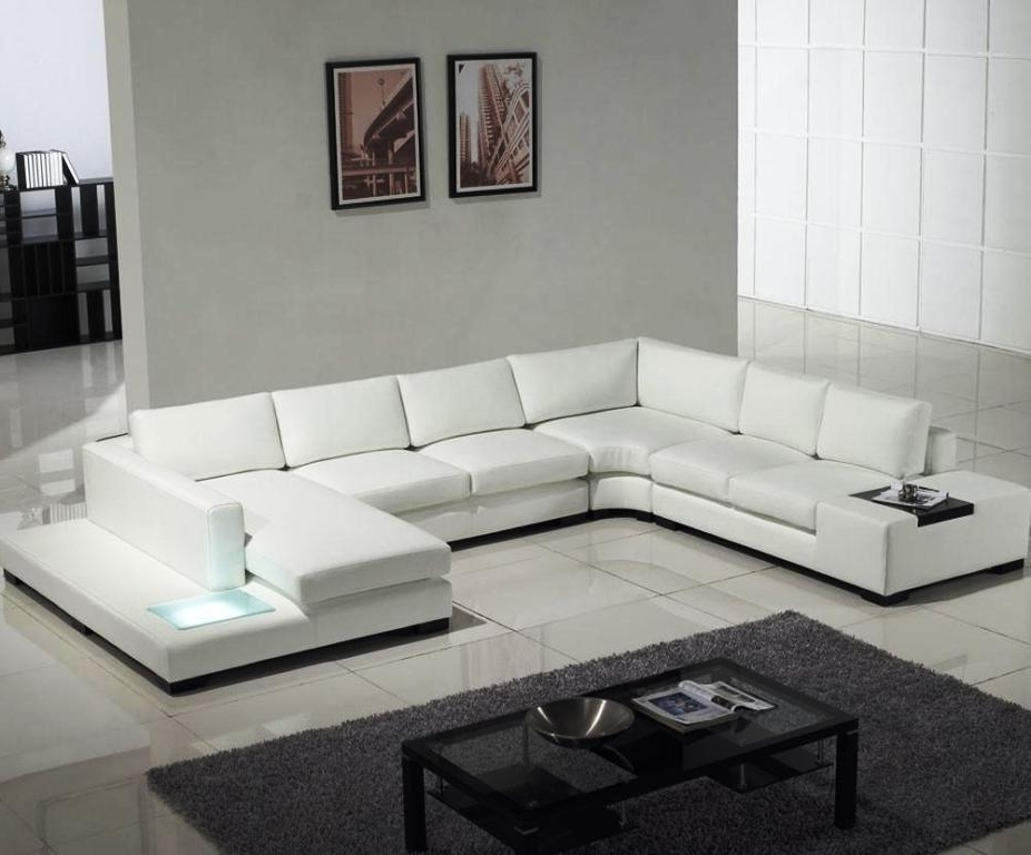 Favorite White Modern Sofas Throughout Modern White Leather Sofas : The Holland – White Modern Sofa Designs (View 2 of 10)