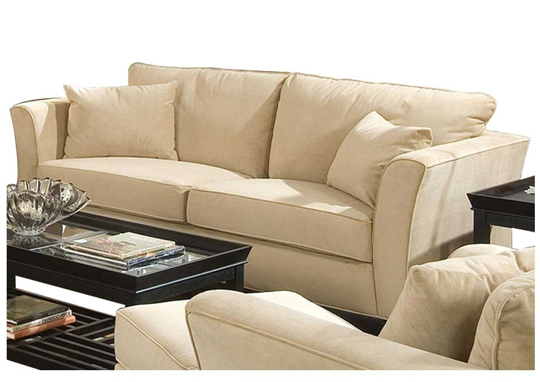 Flax Furniture – Irvington, Nj Park Place Cream & Cappuccino For Well Liked Cream Colored Sofas (View 5 of 10)