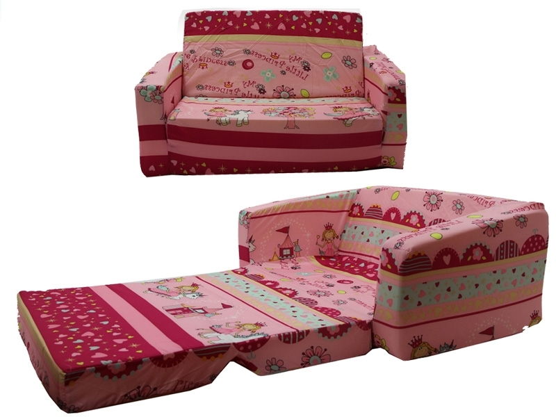 Flip Out Sofas Throughout Well Liked Kids Fold Out Sofa – Home And Textiles (View 7 of 10)