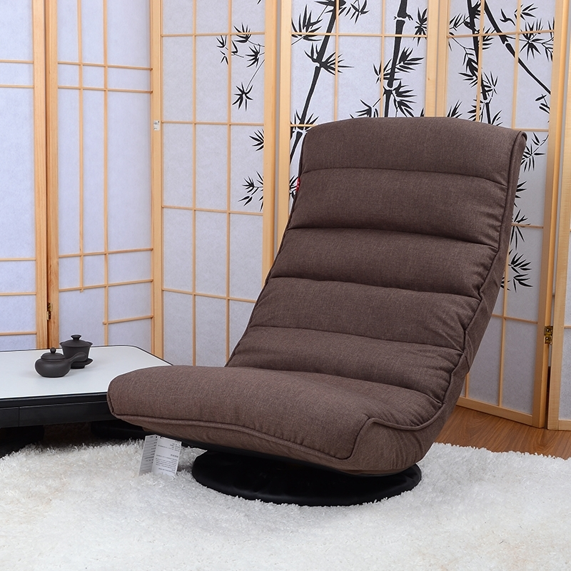Floor Recliner Chair 360Degree Swivel Folded Japanese Living Room Throughout Popular Gaming Sofa Chairs (View 9 of 10)