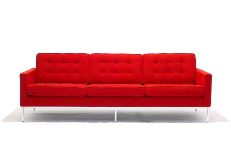 Florence Knoll 3 Seat Sofa – Hivemodern Intended For Preferred Florence Sofas (View 2 of 10)