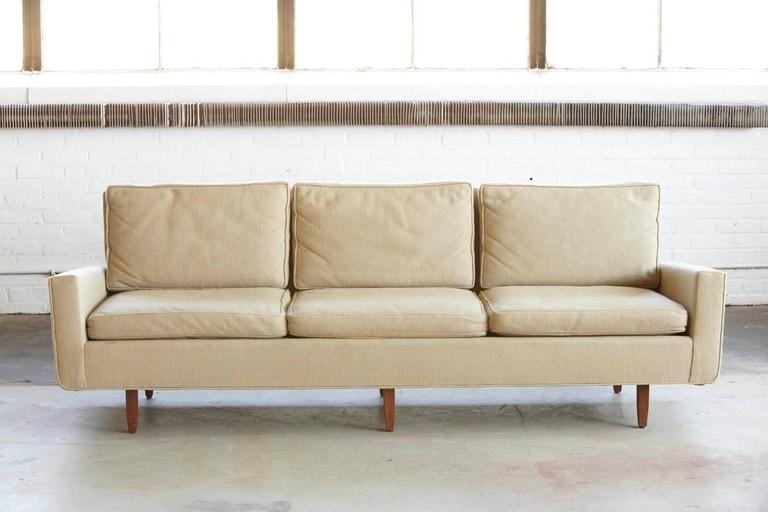 Florence Knoll Fabric Sofas With Well Liked Early Florence Knoll Sofa Model # 26D From 1967 With Original (View 6 of 10)