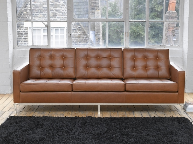 Florence Knoll Leather Sofas With Regard To Most Up To Date Florence Knoll Style Sofa – Home And Textiles (View 3 of 10)