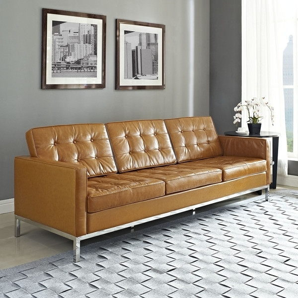 Florence Knoll, Living Room For Florence Leather Sofas (View 5 of 10)