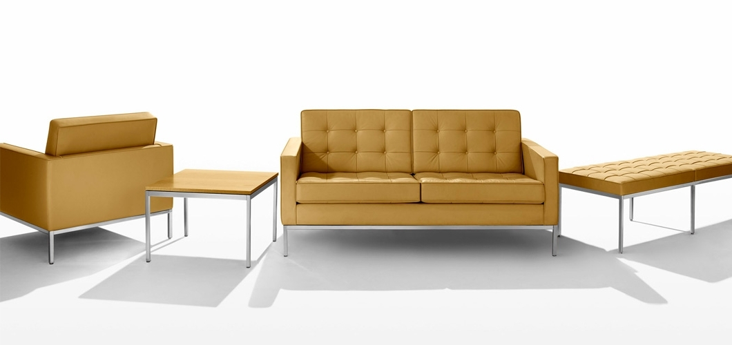 Florence Knoll Wood Legs Sofas Pertaining To Famous Florence Knoll Sofa (View 6 of 10)