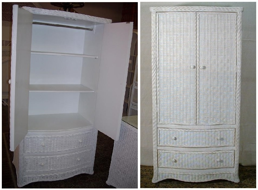 Florentine Wicker Wardrobe, All About Wicker Intended For 2018 White Wicker Wardrobes (View 5 of 15)