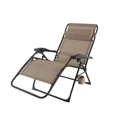 Folding Chaise Lounge Chairs Throughout 2017 Folding – Outdoor Chaise Lounges – Patio Chairs – The Home Depot (View 14 of 15)