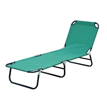 Folding Chaise Lounge Outdoor Chairs Pertaining To Popular Amazon: Patio Foldable Chaise Lounge Chair Outdoor Camping Cot (View 10 of 15)