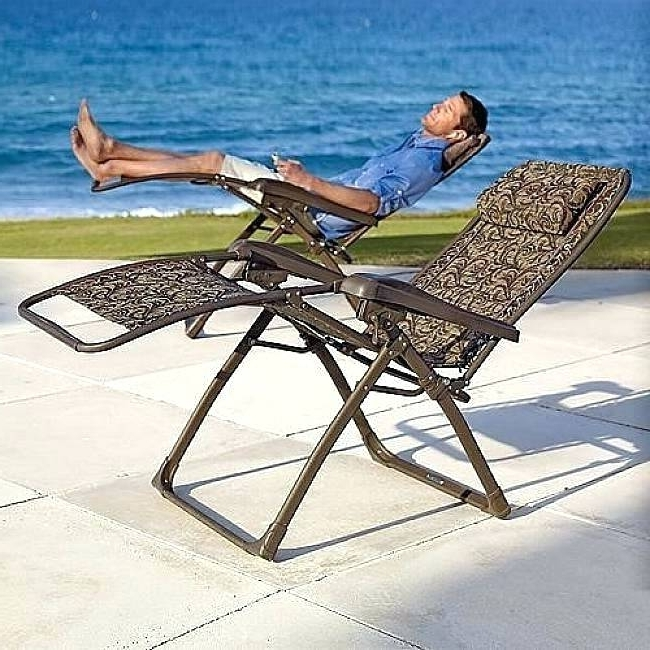 Folding Chaise Lounge Outdoor Nice Folding Chaise Lounge Lawn With 2018 Zero Gravity Chaise Lounge Chairs (View 2 of 15)