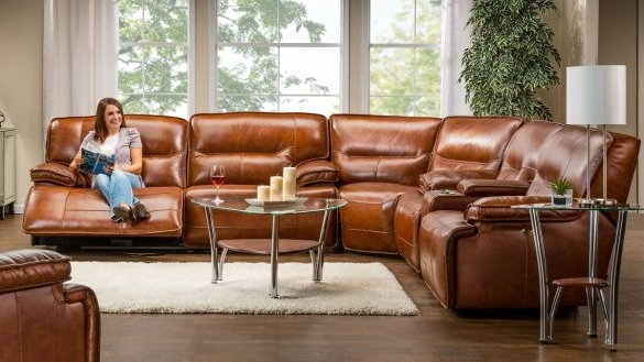 Fortune Recliner Sectionals Drake Leather Power Reclining Regarding Most Popular Gardner White Sectional Sofas (View 3 of 10)