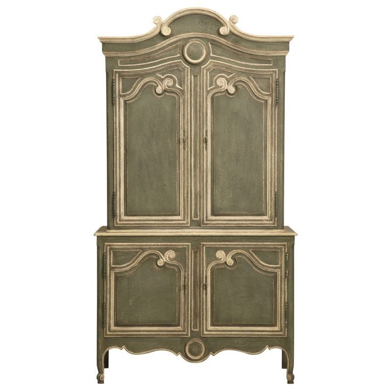 French Style Armoires Wardrobes Throughout Well Known Vintage Baker Country, French Style Armoire Or Buffet Deux Corps (View 3 of 15)