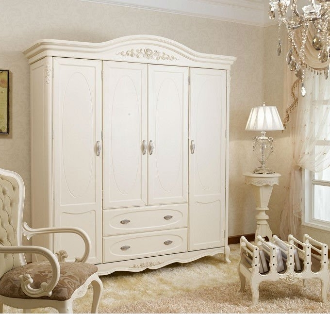 French Style White Wardrobes In Widely Used French Antique Style White Color Bed Furniture Set Bjh 225 Shop (View 5 of 15)