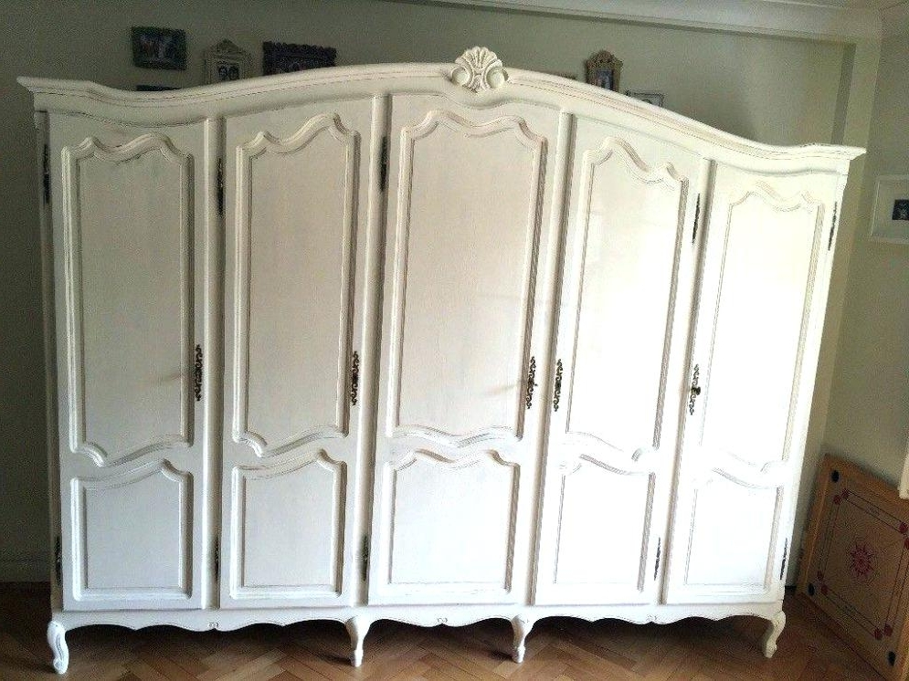 French Wardrobe Armoire Exotic Wardrobes And Century Large French For 2018 Cream French Wardrobes (View 9 of 15)