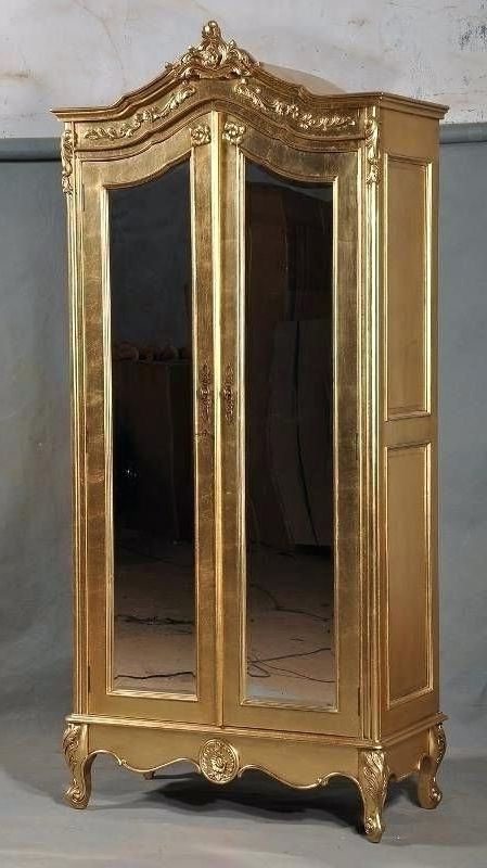 French Wardrobe Armoire Ideal Solid Mahogany Gilt Gold Leaf French In Most Up To Date Ornate Wardrobes (View 4 of 15)