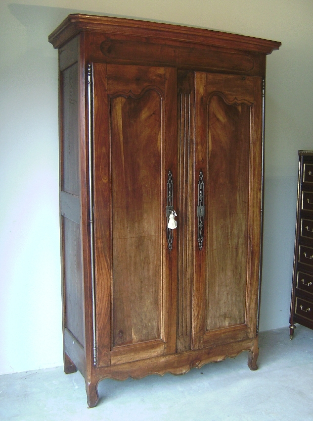 French Wardrobes For Sale In Most Current French Loire Valley Cherry Double Door Armoire C 1760 : Item (View 10 of 15)